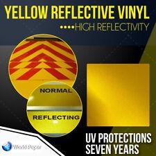 "YELLOW Reflective Vinyl Adhesive Cutter Sign Hight Reflectivity 24"" x 10 FT #1"
