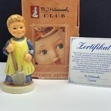 Goebel Mj Hummel club figurine germany box coa 1222 garden treasures hum 727 nib
