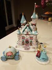 2004 Disney Princess Cinderella Castle Porcelain Lighted Christmas Village