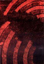 Tappeto moderno 120x170 Mambo bordeaux intagliato a mano