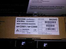 Ricoh Magenta Cartucho de impresión MP C3501 / C3300 842045 Nuevo