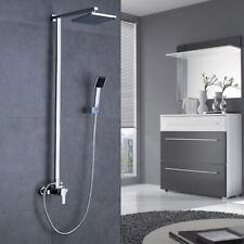 Duschsystem Edelstahl Handbrause Regendusche Aufputz Duscharmatur Duschset DHL