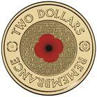 2012 AUSTRALIAN REMEMBRANCE  $2 COIN - C MINTMARK -  RED POPPY