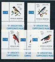 Argentinien MiNr. 1347-51 postfrisch MNH Vögel (Vög2862
