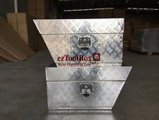 Pair of Aluminium Toolbox Under Tray undertray Ute ToolBox 750x250x400mm BOX