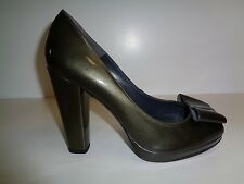 Stuart Weitzman Size 10.5 M BOWRIGHT Gray Quasar Leather Heels New Womens Shoes