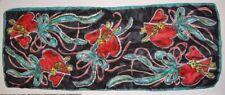 "New listing Vintage Rare Valentines Heart and Keys Ribbon Print Silk Glentex Scarf 41"" x 16"""