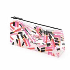 1x CHANEL Coco Rouge Gloss Clear see-through Makeup Cosmetic Bag / Pouch, New!