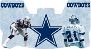 Custom Cowboys Deion Sanders Football Helmet Visor, W/ Unbranded Clips