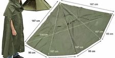Military poncho cape Polish army 195 cm size 3 BUSHCRAFT 32 poncho or 16 tent