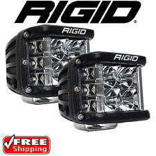 RIGID Industries 26211 Pair of D-SS Side Shooter LED Lights Flood D-Series Jeep
