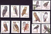 Ukraine 2003 , Cute Birds, Different Owls , Stamp set MNH