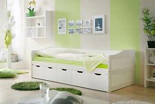 Sofabett Funktionsbett mit Schubkasten Maria Kiefer massiv WEISS