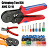 Ratchet Crimper Plier w/ 800 Tube End Ferrule Terminals Connector Crimping Tool