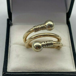 9ct Gold Hallmarked Solid Heavy Torque Ring.  Goldmine Jewellers.