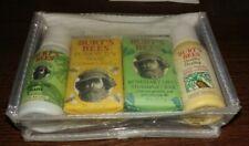 Burt's Bees 5-Piece Travel Gift Set Skin Lotion Soap Wash Shampoo Bath Crystals