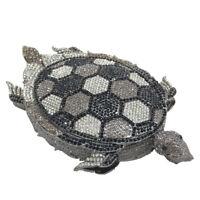 Diamond Turtle Minaudiere Clutch Women Crystal Evening Bags Bridal Handbag Purse