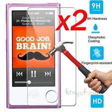 2P 9H Premium Tempered Glass Screen Protector Film Fits Apple iPod Nano 7 7th B4