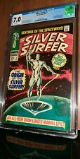 CGC 7.0 Silver Surfer # 1. Origin of Silver Surfer and the Watchers. 1968. MCU.