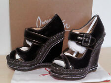 CHRISTIAN LOUBOUTIN WEDGE EU 36 / US 5 DARK GREY