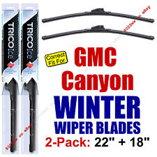 WINTER Wiper Blades 2-Pack Premium - fit 2015+ GMC Canyon Wipers - 35220/180