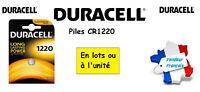 Piles boutons lithium Duracell CR1220 3V ** Expédition Rapide Et Gratuite **