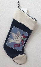 Brand New White Dove Needlepoint Christmas Stocking