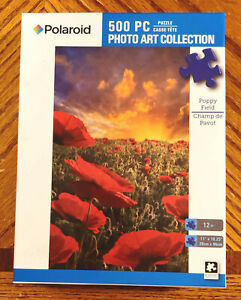 Poppy Field Polaroid Jigsaw Puzzle by Karmin 500 Pieces Complete
