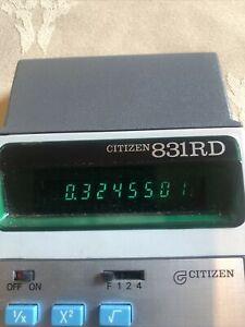 Vintage Calculator CITIZEN 831RD Working
