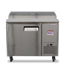 "44"" Pizza Prep Table Unit 4' Make Line Refrigerator Prep Cooler 2 Door 48"" Tpp44"
