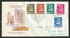 Nederland FDC E 2 met geschreven adres; bovenzijde (netjes) opengesneden