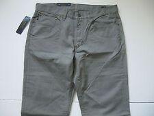 POLO RALPH LAUREN Men's Grey Varick Slim-Straight 5-Pocket Twill Pants 35x32