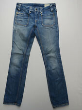 B-091 DIESEL KEATE WOMENS SLIM STRAIGHT LEG BLUE JEANS SIZE 27 MADE IN ITALY