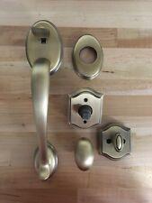 Baldwin Reserve Double Cylinder Handleset Columbus x Ellipse Matte Brass & Black