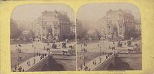 Paris Place Saint Michel France Stéréo Hippolyte Jouvin Vintage albumine ca 1865