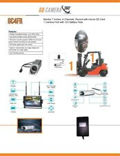 """Forklift Wireless Camera System w/ 7"""" Monitor Fork Cam Battery Pack"""