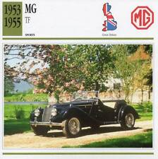 1953-1955 MG TF Sports Classic Car Photo/Info Maxi Card