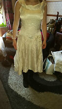LOVELY TRUE VINTAGE WEDDING /BRIDESMAID DRESS SIZE 8-10 IDEAL GOTH JOHN AND PILL