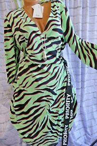 Kleid Wickelkleid Sheego by Miyabi Kawai Damen  grün Ton gemustert (754) (124)