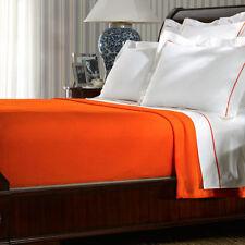 New Ralph Lauren 464 Solid Percale Equestrian Orange One Queen Flat Sheet