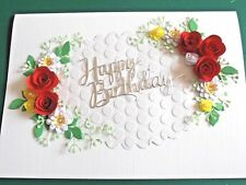 Handmade Personalised Boxed Birthday Day/ Ruby Anniversary/Wedding Card  Reds