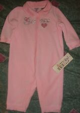 GUESS~girl's~GORGEOUS/1/PC/pink/VELOUR/embroidered/ROMPER! (6/9/MO) N/W/TAGS! @@