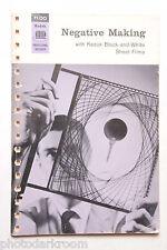 Kodak B&W Sheet Film Negative Making Data Booklet F-5 1962 - English - USED B46