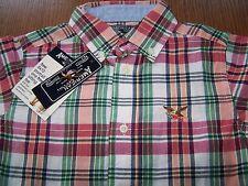 NWT American Living RL Madras Plaid Dress SHIRT BOY SZ 4  Free US Shipping