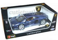 Bburago Lamborghini Aventador LP700-4 1:18 Diecast Model Car Blue 18-11033