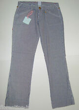 "BNWT:SASS&BIDE BLUE&WHITE STRIPED WIDE LEG SLOUCH JEANS  28 ""NILE CRUISERS"""