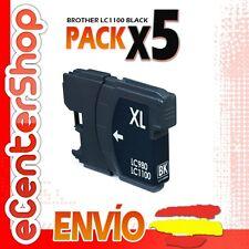 5 Cartuchos de Tinta Negra LC1100 NON-OEM Brother MFC-5895CW / MFC5895CW