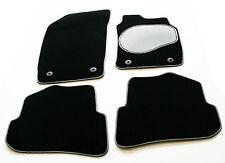 Hyundai Sonata III  98-04 Carpet Car Mats - Silver / Black Trim & Grey Heel Pad