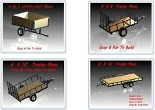 6x16,6x10,4x8 & ATV Trailer Plans - Over 100 Pages Broken Down Step By Step