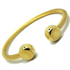 Magnetic Stainless Steel Cable IP Gold Golf Bracelet + Gift Box IN STOCK USA